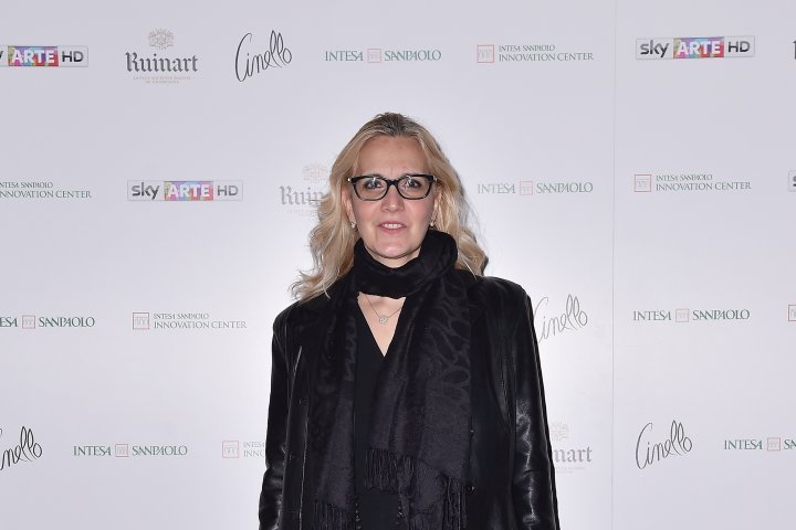 MILAN, ITALY - APRIL 11:  Virginia Ghisani attends Save The Artistic Heritage - Vernissage Cocktail on April 11, 2018 in Milan, Italy.