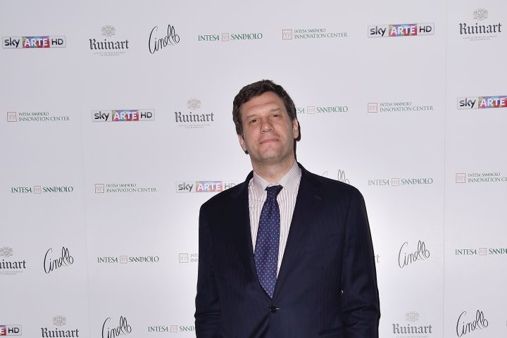 MILAN, ITALY - APRIL 11:  Gianfilippo Schiaffiro attends Save The Artistic Heritage - Vernissage Cocktail on April 11, 2018 in Milan, Italy.