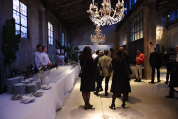 MILAN, ITALY - APRIL 11:  General view during the Save The Artistic Heritage - Vernissage Cocktail on April 11, 2018 in Milan, Italy.
