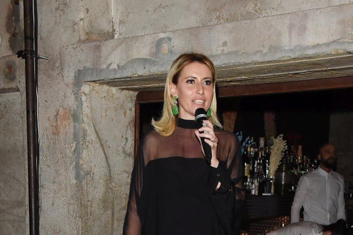 MILAN, ITALY - APRIL 11:  Federica Pesce attends Save The Artistic Heritage - Vernissage Cocktail on April 11, 2018 in Milan, Italy.