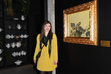 MILAN, ITALY - APRIL 11:  A guest attends Save The Artistic Heritage - Vernissage Cocktail on April 11, 2018 in Milan, Italy.