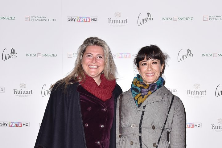 MILAN, ITALY - APRIL 11:  Margherita Candiani and Giulia Chiaraboschi attend Save The Artistic Heritage - Vernissage Cocktail on April 11, 2018 in Milan, Italy.