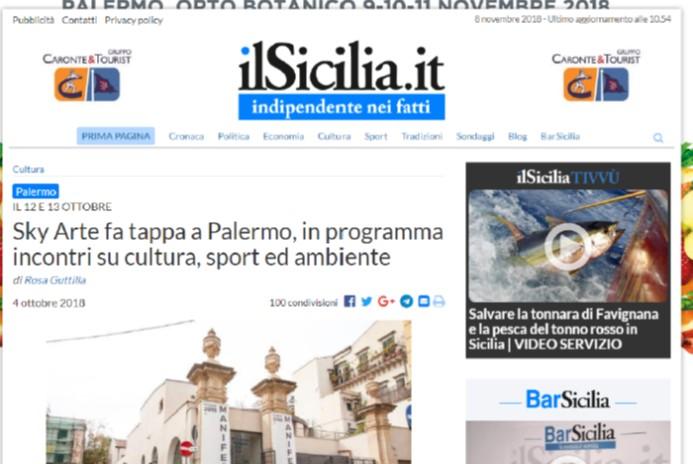 SkyArte fa tappa a Palermo, in programma incontri su cultura, sport ed ambiente
