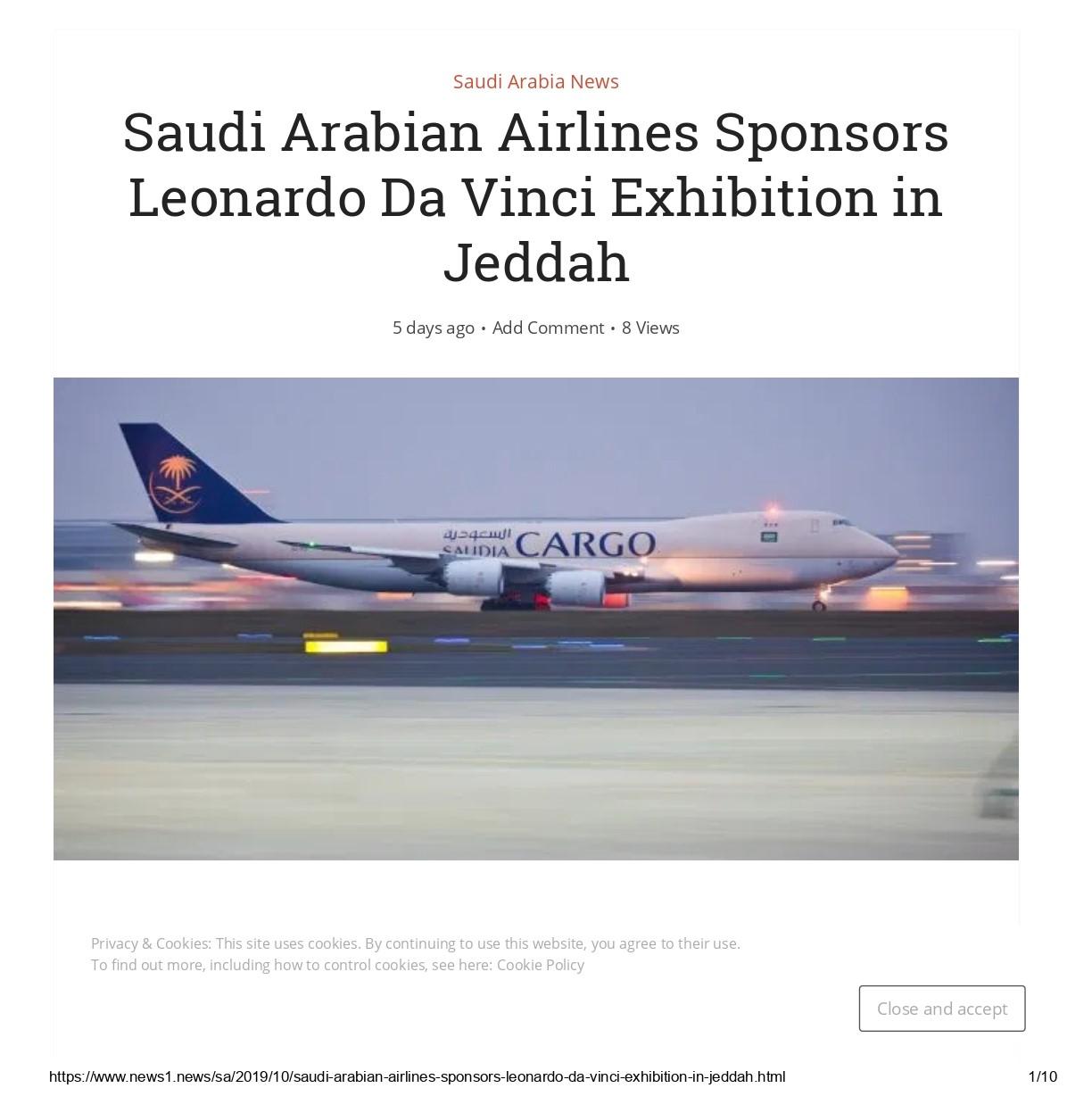 Saudi Arabian Airlines Sponsors Leonardo Da Vinci Exhibition in Jeddah