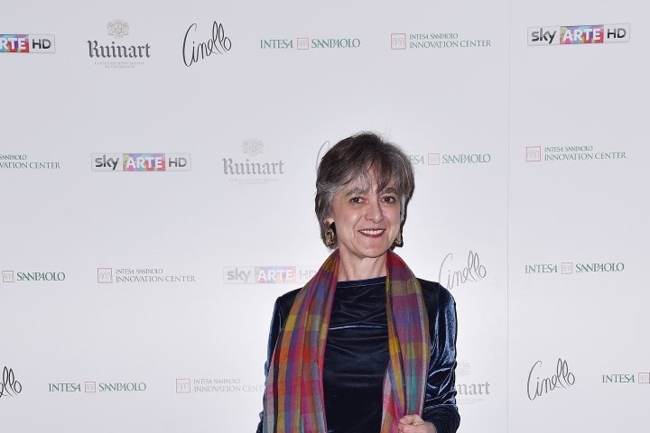 MILAN, ITALY - APRIL 11:  Emanuela Daffra attends Save The Artistic Heritage - Vernissage Cocktail on April 11, 2018 in Milan, Italy.