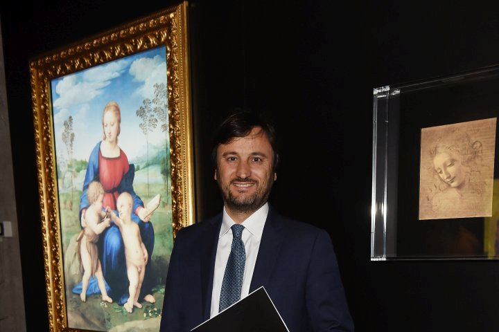 MILAN, ITALY - APRIL 11:  Alberto Losacco attends Save The Artistic Heritage - Vernissage Cocktail on April 11, 2018 in Milan, Italy.