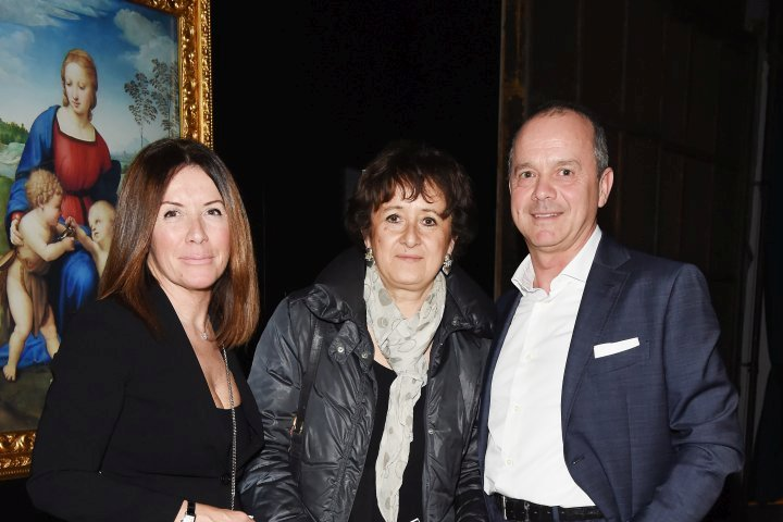 MILAN, ITALY - APRIL 11:  Guests attend Save The Artistic Heritage - Vernissage Cocktail on April 11, 2018 in Milan, Italy.