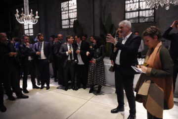 MILAN, ITALY - APRIL 11:  Luca Renzi attends Save The Artistic Heritage - Vernissage Cocktail on April 11, 2018 in Milan, Italy.