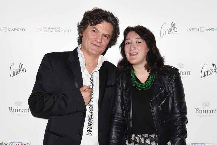MILAN, ITALY - APRIL 11:  Mario Cristiani and Mariella Casile attend Save The Artistic Heritage - Vernissage Cocktail on April 11, 2018 in Milan, Italy.  (Photo by Stefania M. D'Alessandro/Getty Images for Cinello) *** Local Caption *** Mario Cristiani;Chandice Yang
