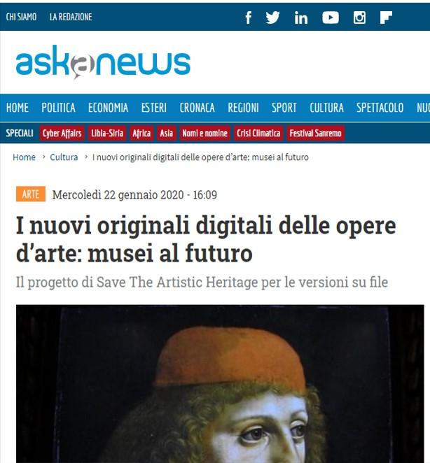 I nuovi originali digitali delle opere d'arte: musei al futuro