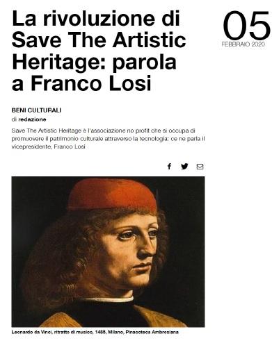 La rivoluzione di Save The Artistic Heritage: parola a Franco Losi